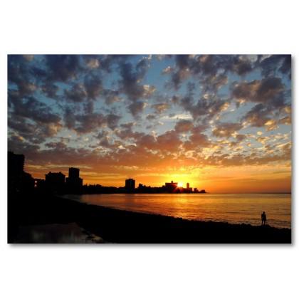 Αφίσα (Κούβα, ηλιοβασίλεμα, ήλιος, ουρανός)